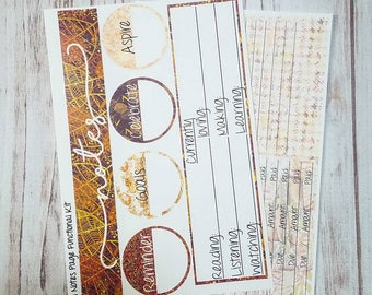 Fall note page sticker kit for the Erin Condren life planner