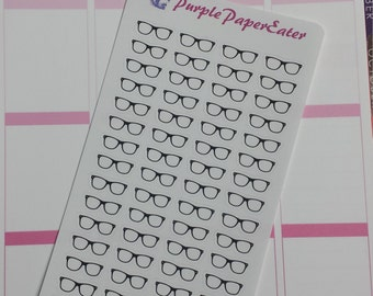 Eye Glasses planner stickers
