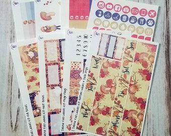 Fall Leaves 8 page full sticker kit for the Erin Condren vertical life planner