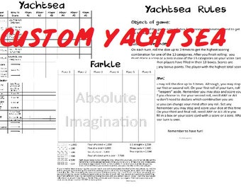photograph regarding Farkle Instructions Printable referred to as Yardzee printable Etsy