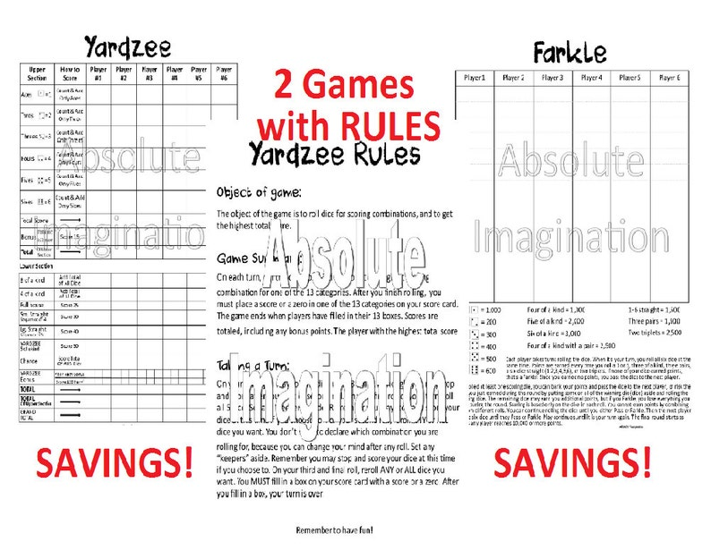 photo relating to Yardzee Rules Printable identify PRINTABLE. Tremendous BUNDLEYardzee, Yardzee Guidelines Farkle Ranking Card. Yardzee Board. Farkle Board. Yard Yahtzee Farkle. Electronic Down load