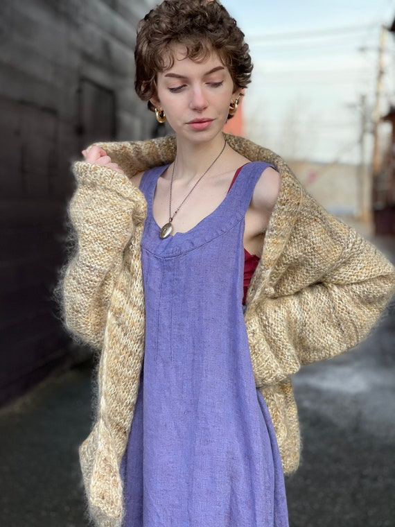 Bonnie Cashin Country Mohair Wool Cardigan Sweater