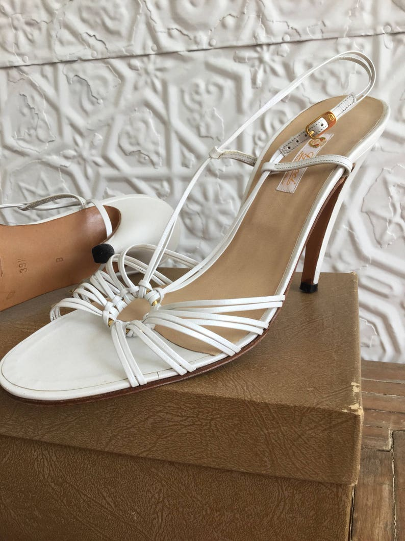 a1d2d9f9cd1 1970s Gucci Leather Sandals-High Heels Designer-Made in