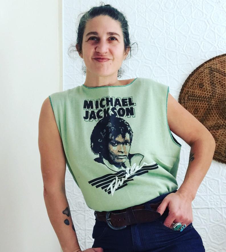 73d1146f Vintage Michael Jackson Thriller Tshirt True 1980s Deadstock   Etsy