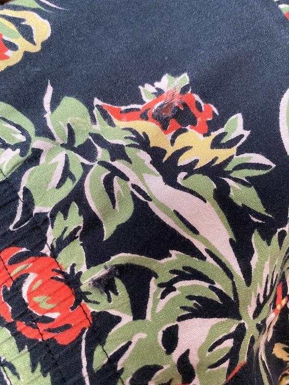 Norma Kamali Cotton Ruffle Skirt-Fall Roses-Giant… - image 8
