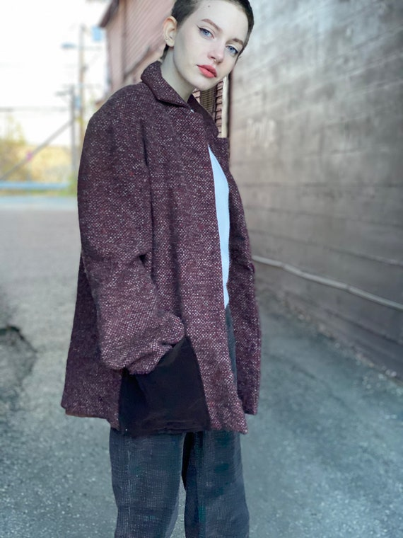 Vintage Wool Theatrical Jacket with Velvet Pockets