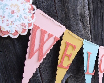Baby Shower Banner, Welcome Baby, Baby Girl Shower, Baby Boy Shower, Baby Shower Decorations, Baby Girl, Baby Boy