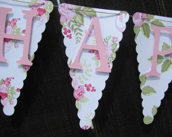 Birthday Banner, Happy Birthday Banner, Happy Birthday, Girl Banner 1st Birthday