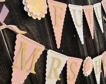 Custom Bridal Shower Banner. Wedding Shower Banner