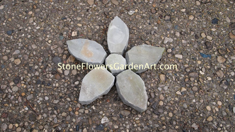 Stone Flowers Garden Art        Star Flower image 0