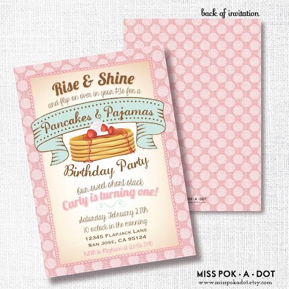 Pancakes and pajamas birthday party invitation printable etsy image 0 filmwisefo