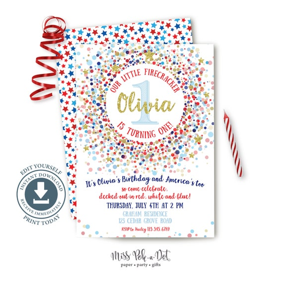 It's just a photo of Free Printable Patriotic Invitations pertaining to july