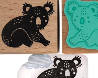 Koala stamp, Phascolarctos cinereus stamp, nature themed stamps, koala rubber stamp, koala ink stamp