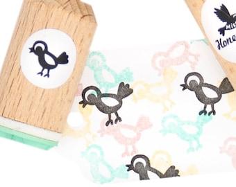 Bird rubber stamp - Mini stamp bird made of mint rubber - for her - cute little bird stamp - ink bird stamp