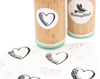 Heart shading left (073) Mini Stamp, heart shading left stamp, heart rubber stamp, wedding stamp, love stamp, stamp for her, Mother's Day