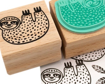 Sloth stamp, Folivora stamp, nature themed stamps, sloth rubber stamp, sloth ink stamp