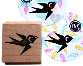 Swallow Bird  (facing right) stamp