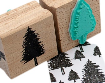 Christmas Stamp 16mm S669 Forest Rubber Stamp 20mm  Mini Stamps Cute Forest  Stamp Planner Stamp