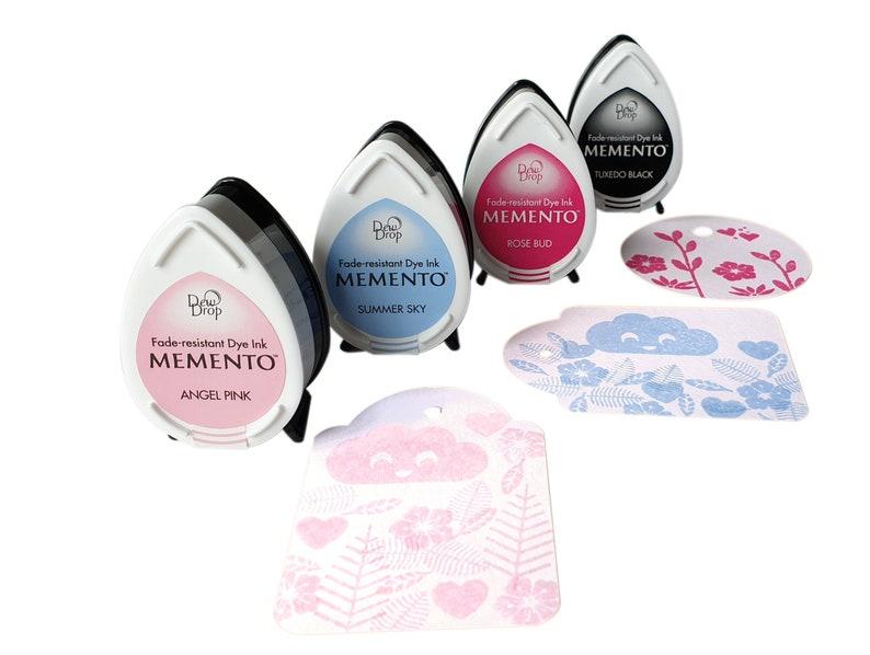 Tsukineko Memento Dew Drop ink pad in light blue light pink image 0