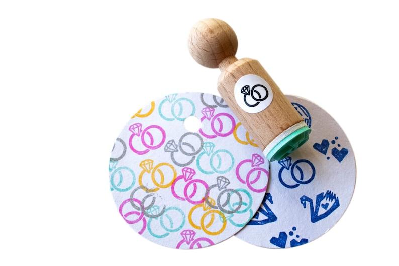 Wedding rings Mini Stamp wedding stamp rings stamp rings image 0