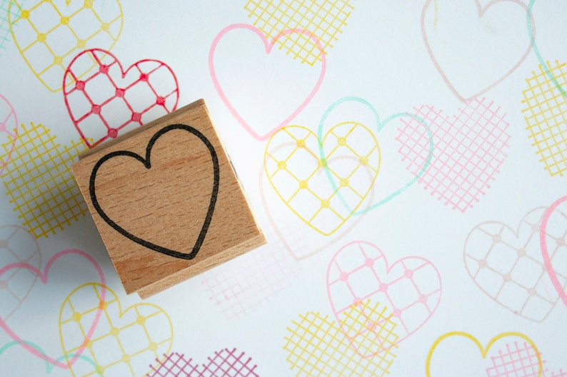 Heart outline stamp oulined heart for her heart for him image 0