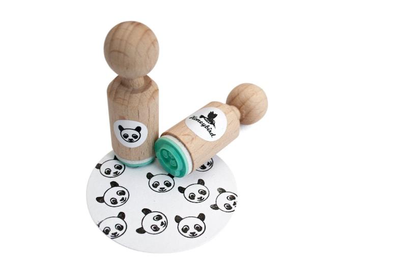 Panda Mini Stamp panda ink stamp panda mini ink stamp panda image 0
