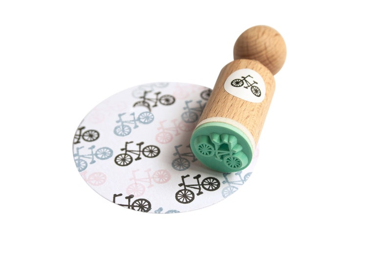 bicycle mini Stamp bike mini stamp bicycle ink stamp bike image 0