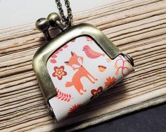 Fox Coin Purse Necklace