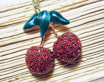 Double Cherry Necklace