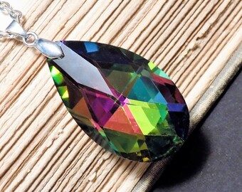 Vitrail Crystal Drop Necklace