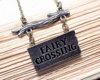 Fairy Crossing Necklace