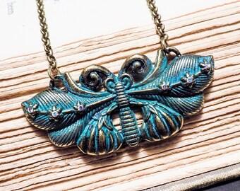 Verdigris Moth Pendant