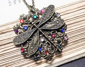 Bronze Dragonfly Pendant