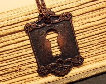 Copper Keyhole Necklace