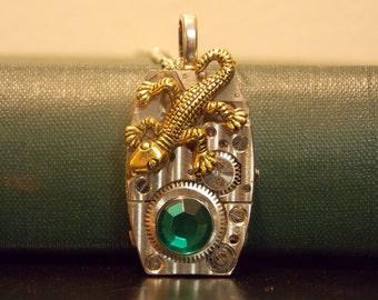 Lizard Watch Movement Necklace