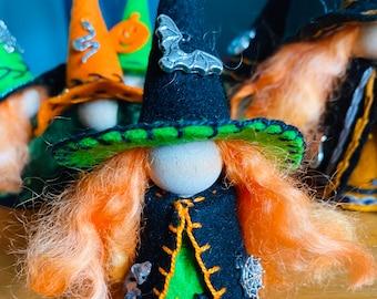 Halloween Witch, Ready to Ship, Bat Charm