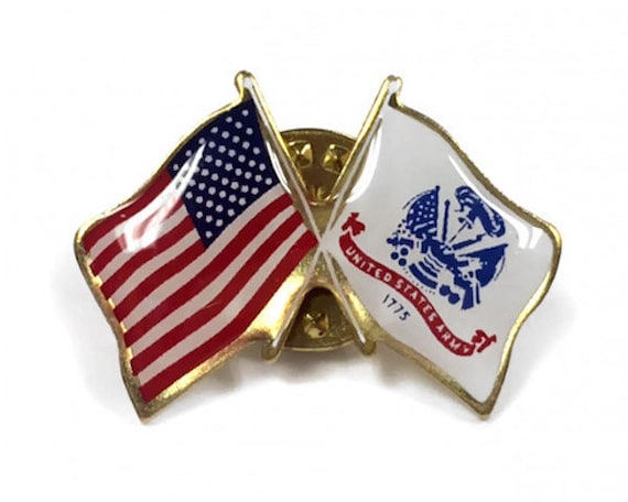 POW BRING THEM HOME CROSSED US FLAG LAPEL PIN HAT TAC NEW