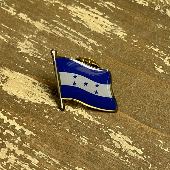 Made in USA! Honduras Waving Flag Lapel Pin