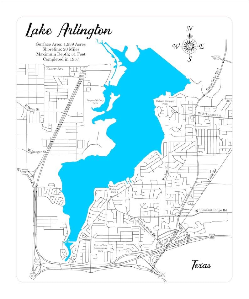 Lake Arlington, Texas -Wood Laser Cut Engraved Map on huntsville tx map, petersburg tx map, katy tx map, cookeville tx map, waco tx map, lewisville tx map, long beach tx map, midland tx map, bowling green ky map, avondale tx map, greenville tx map, killeen tx map, comanche tx map, cisco tx map, houston tx map, el paso tx map, tyler tx map, springfield tx map, amarillo tx map, garland tx map,