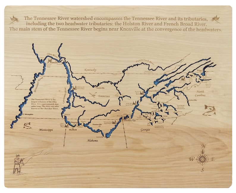 Wood Laser Cut Map of Tennessee Valley Authority Topographical Engraved on topo map of gibbons creek reservoir, topo map of north carolina, topo map of great smoky mountains national park, topo map of united states, topo map of choke canyon reservoir, topo map of montana, topo map of aurora reservoir, topo map of ladue reservoir, topo map of woods reservoir, topo map of mississippi river,