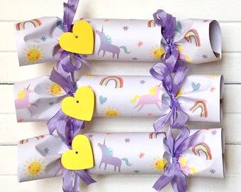 Unicorn and Rainbow Party Cracker   Set of 6