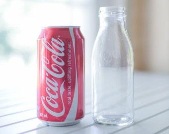 35 x 250ml glass bottles - Classic juice / milk bottle shape - 15.5cm tall