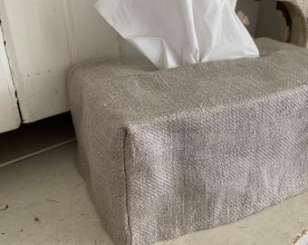Linen Kleenex Tissue Cover
