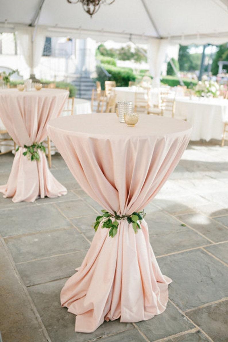 Stehtisch Husse Blush Hochzeit