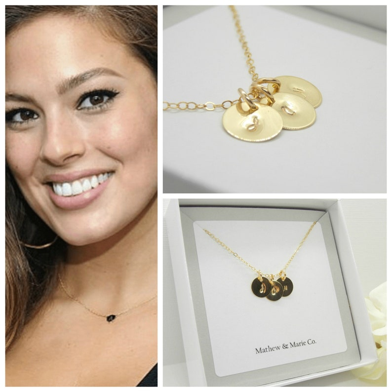 Letter Jewelry Hand Stamped Necklace 14KT Filled Personalized Letter Necklace Personalized Necklace