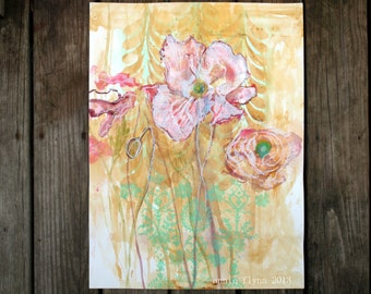 "Archival Print of Original Watercolor ""Faded Garden"""