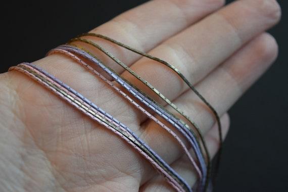 Multi Strand Chain, Purple Chain, Pink Chain, Lav… - image 4
