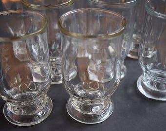 Rare Delited Jelly Jar Juice Glasses Vintage