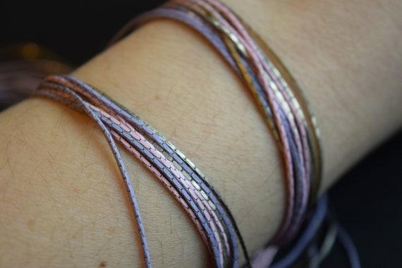 Multi Strand Chain, Purple Chain, Pink Chain, Lav… - image 6