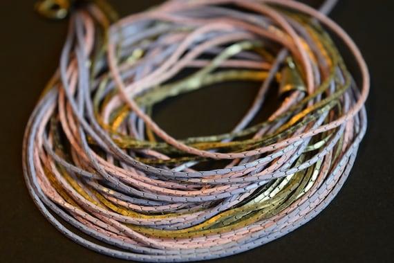 Multi Strand Chain, Purple Chain, Pink Chain, Lav… - image 1